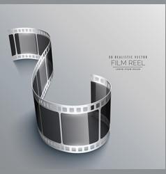 3d film strip on gray background design vector image