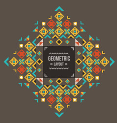 abstract geometric background for design retro vector image