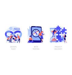 agile project management concept metaphors vector image