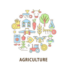 Agriculture abstract color concept layout vector