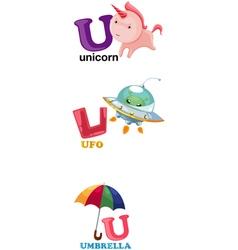 Alphabet letter - u vector