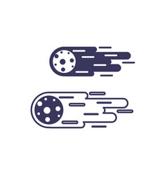 Asteroid astrology line image icon vector