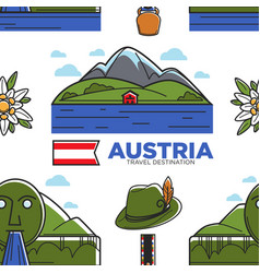 austria travel destination nature and national vector image