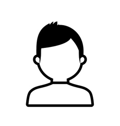 Avatar man online web profile outline vector