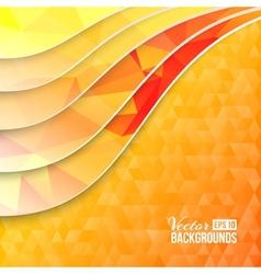 Background of orange triangles vector