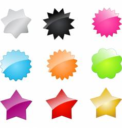 badges and stars vector image