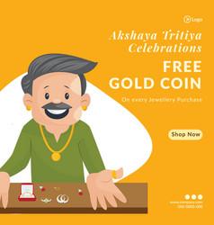 Banner design akshaya tritiya celebrations vector