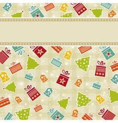 beige christmas background vector image