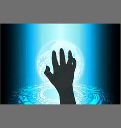 blue future technology cybercrime internet vector image