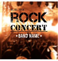 blurred background with rock stage and crowd vector image