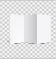 booklet mockup isolated transparent background vector image