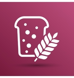 bread ornate design background logo grain meal bun vector image