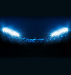 Bright stadium lights design illumination vector