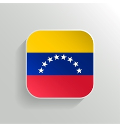 Button - venezuela flag icon vector
