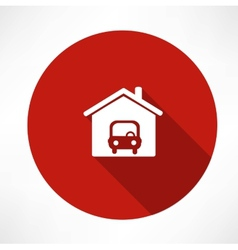 Car in the garage icon vector