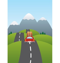 car on road vector image