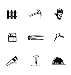 Carpenty icon set vector image vector image