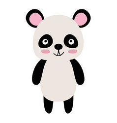 Colorful cute and happy panda wild animal vector
