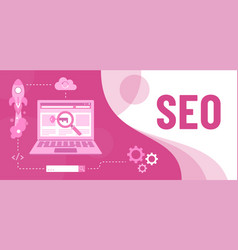 colourful of seo as a tool marketing vector image