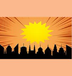 comic explosive template vector image
