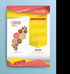 Cover Annual report colorful bird origami paper de vector