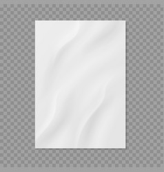 Crumpled paper realistic wet wrinkled page vector