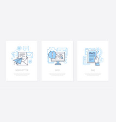 Customer service - line design style icons set vector