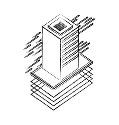 database server isometric storage information vector image