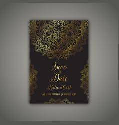 Decorative save the date invite vector