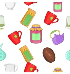 Drink pattern cartoon style vector
