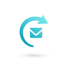 E-mail envelope arrow logo icon vector