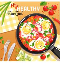 Egg frying pan vector