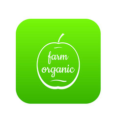 farm organic icon green vector image