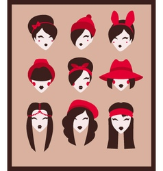 fashion girls collection vector image