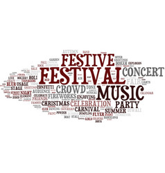festive word cloud concept vector image