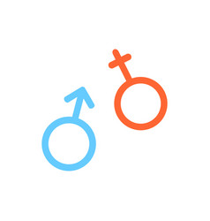 flat line gender icon vector image