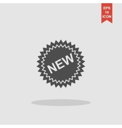 Flat New label icon vector