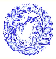 floral circle vector image