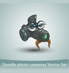 funny photo camera isolated on white background vector image