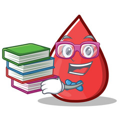Geek blood drop cartoon mascot character vector