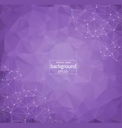 geometric purple polygonal background molecule vector image