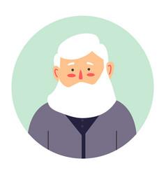 Grandfather portrait senior male character vector