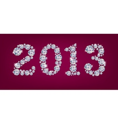 Greetings new year 2013 vector image