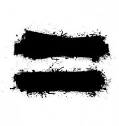grunge ink banner black vector image vector image