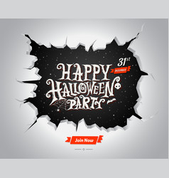 halloween text for halloween card vector image