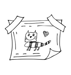 hand drawn doodle frame vector image