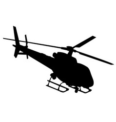 Helicopter silhouette in black vector