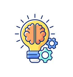 idea generation rgb color icon vector image