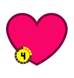 isolated heart shape videogame bar icon vector image