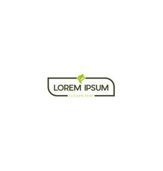 Label organic green tea creative logo design vector